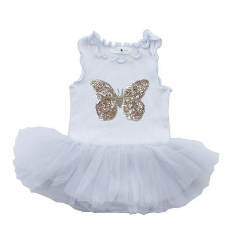Baby Butterfly Tutu Dress - Gray