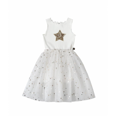 Daisy Star Sparkel Tutu Dress - White