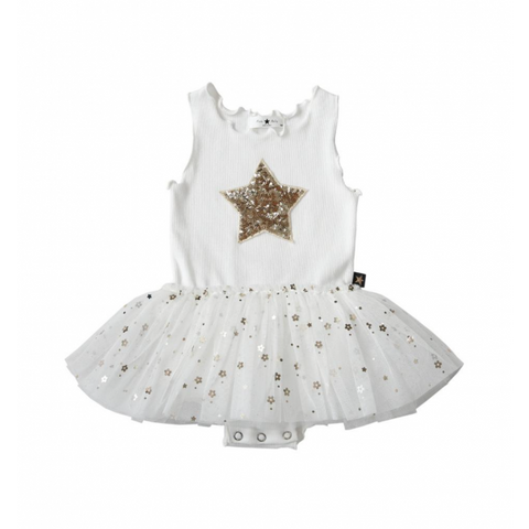 Baby Daisy Star Spakel Tutu Dress - White