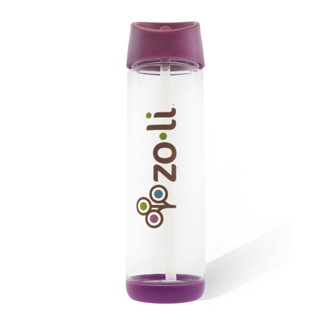 PIP straw water bottle-purple