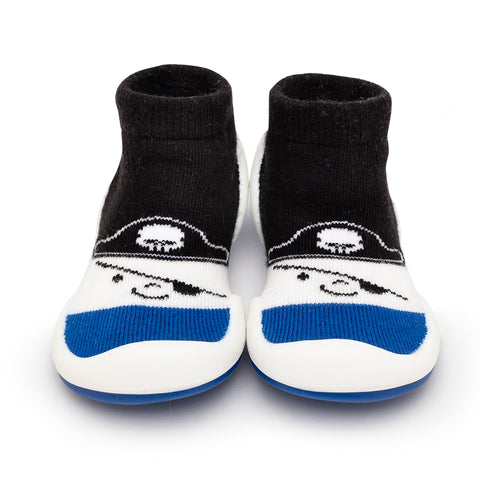 Komuello Baby Shoes - Pirate - Canvas Blue
