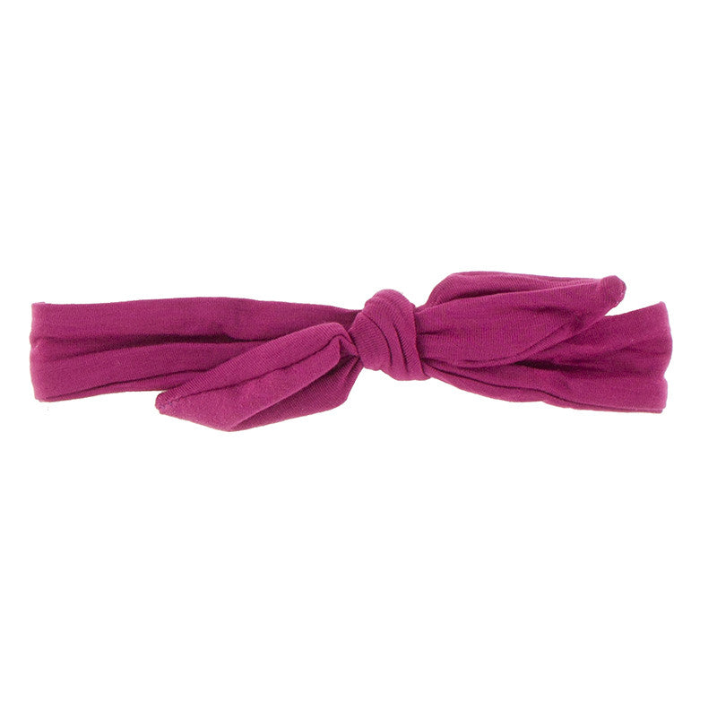 Bow Headband - Berry