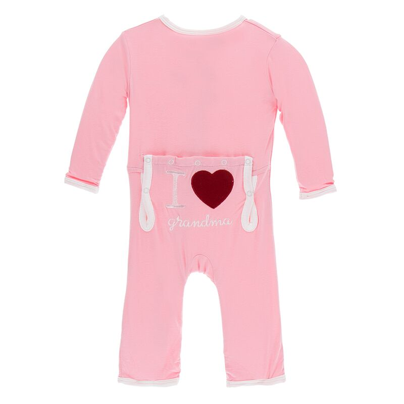 Applique Coverall - Lotus I Love Grandma