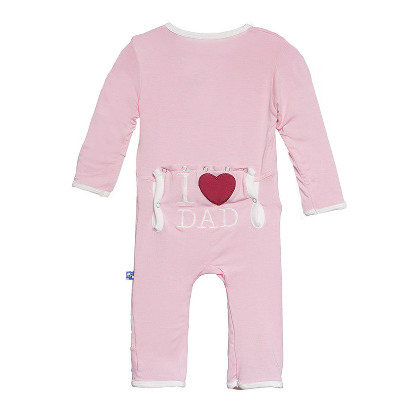 Applique Coverall - Lotus I Love Dad