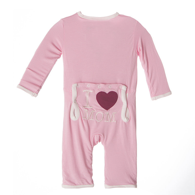 Applique Coverall - Lotus I Love Mom