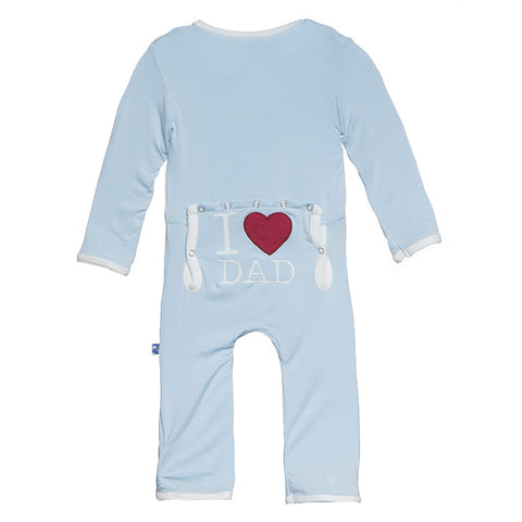 Applique Coverall -Pond I Love Dad