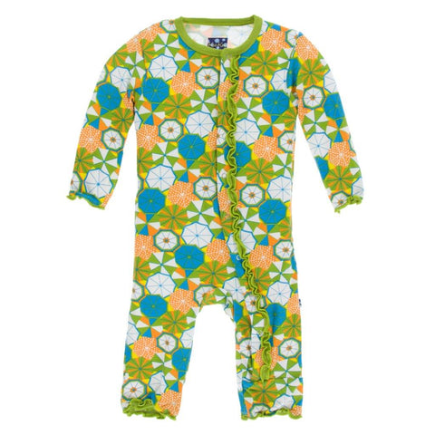 Muffin Ruffle Coverall - Beach Umbrellas