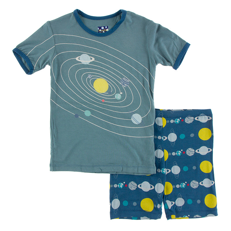 Pajama Set with Shorts - Twilight Planets