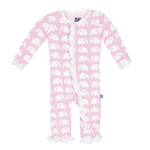Ruffle Coverall - Lotus Elephant