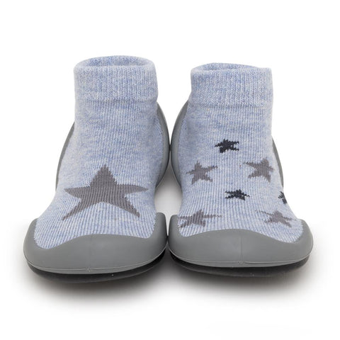 Komuello Baby Shoes - Twinkle Twinkle - Heather Blue