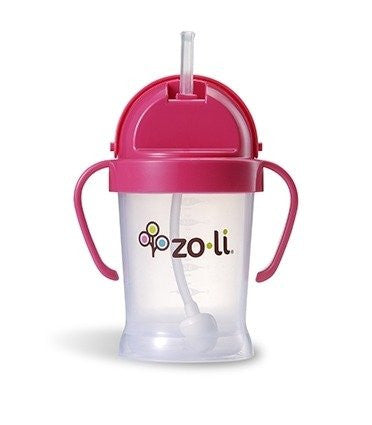 BOTXL Straw Sippy Cup 9oz Pink