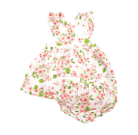 Cherry Blossom Pinafore Top & Bloomer