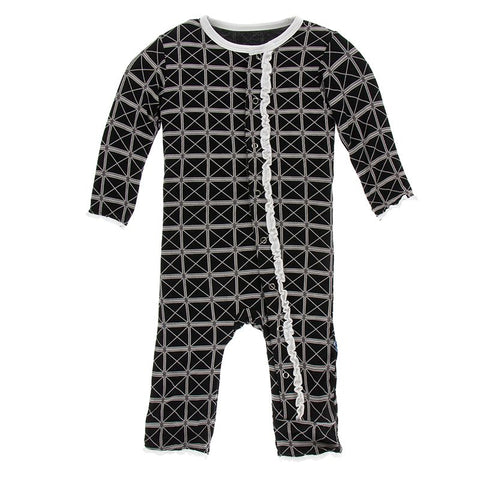 Muffin Ruffle Coverall (Zipper)-Midnight Infrastructure