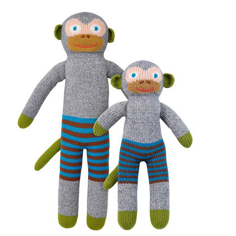 Blabla Knit Doll Monkey 'Mozart'