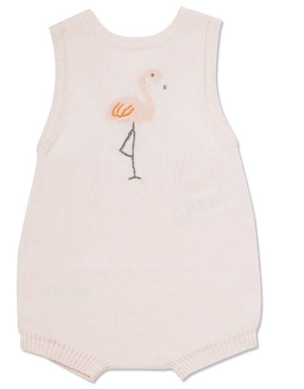 Nautical Knits Flamingo Sunsuit