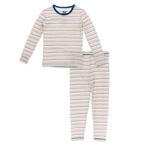 Long Sleeve Pajama Set-Everyday Heroes Multi Stripe