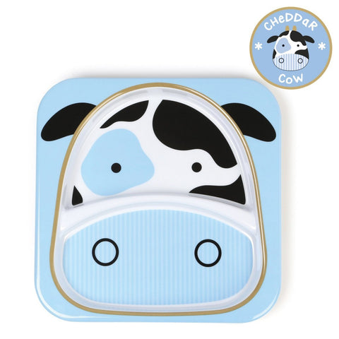 Zoo Divided Plate - Cow