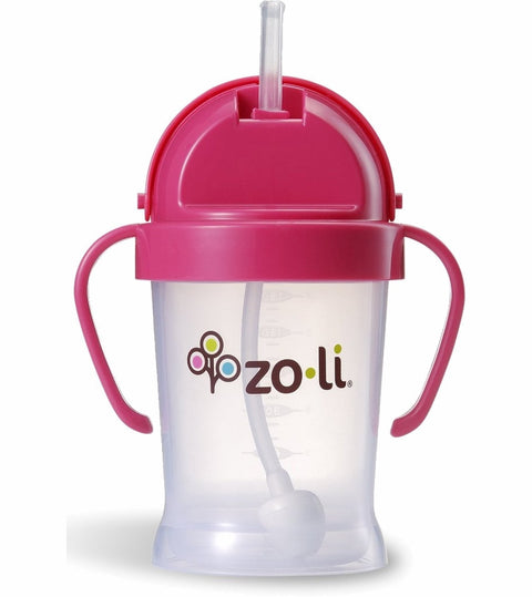 BOT Straw Sippy Cup 6oz Pink