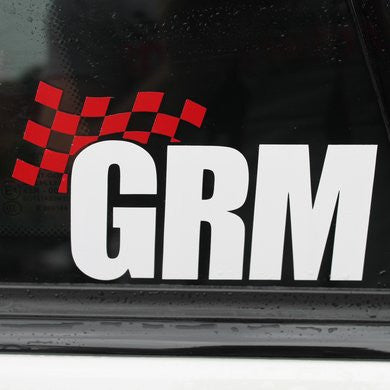 Limited Edition GRM Die-Cut Stickers (pair)
