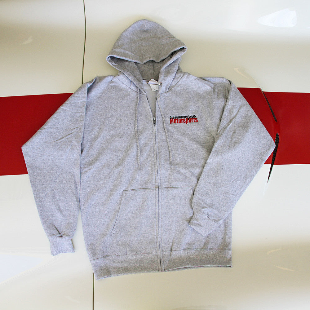 Grassroots Motorsports Gray Zippered Hoodie