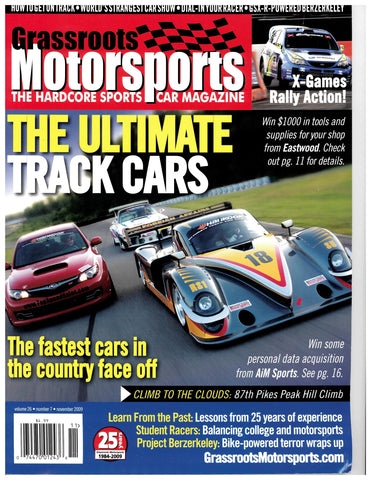 November 2009 - The Ultimate Track Cars