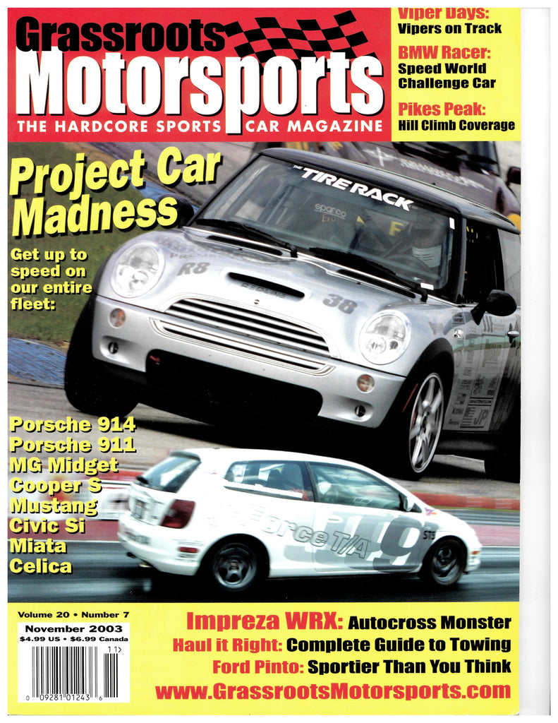 November 2003 - Project Car Madness