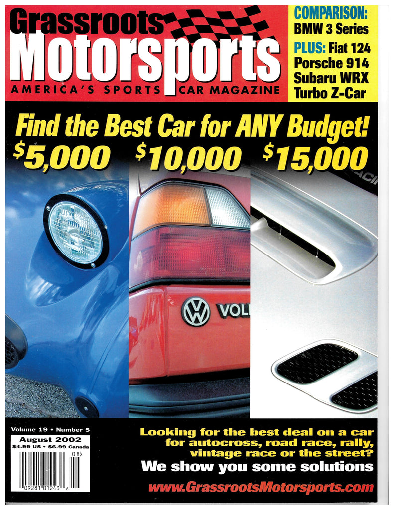 August 2002 - Find the Best Car for ANY Budget!