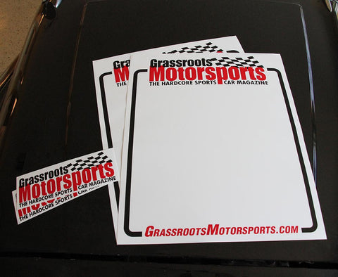 Grassroots Motorsports Number Panels