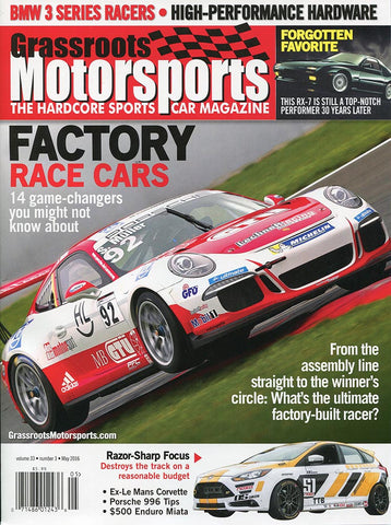 May 2016- Factory Race Cars