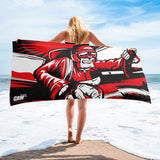 Angry Shifter Guy Beach Towel