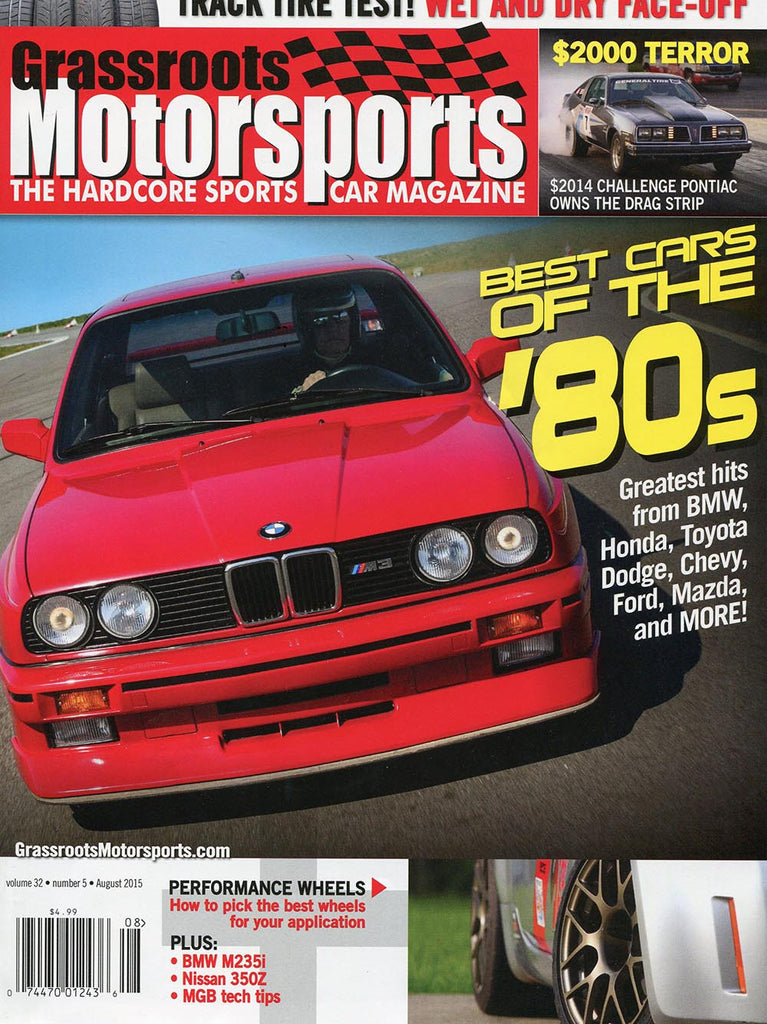 August 2015- Best Cars of the 80's