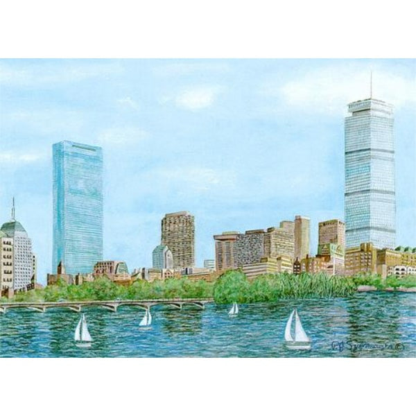 Boston's Back Bay Skyline Framed Print