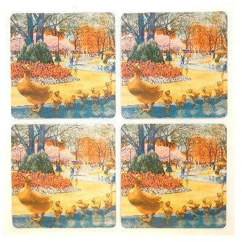 Boston Duckling Coaster Set
