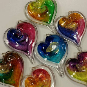Handblown Glass Hearts