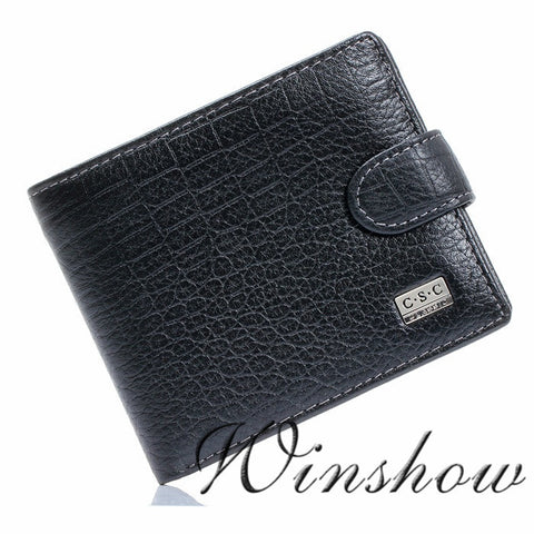 Crocodile Black Real Genuine Leather Wallet