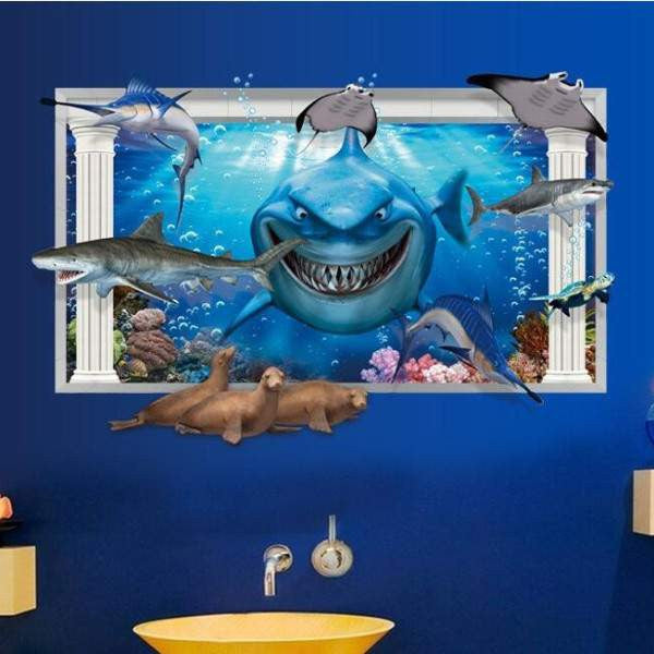 3D Finding Nemo - Bruce Wall Decal | The Gift and Gadget Guys NZ | GGGNZ