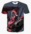 Deadpool with Gun T Shirt (NZ Medium - Large) | The Gift and Gadget Guys NZ | GGGNZ