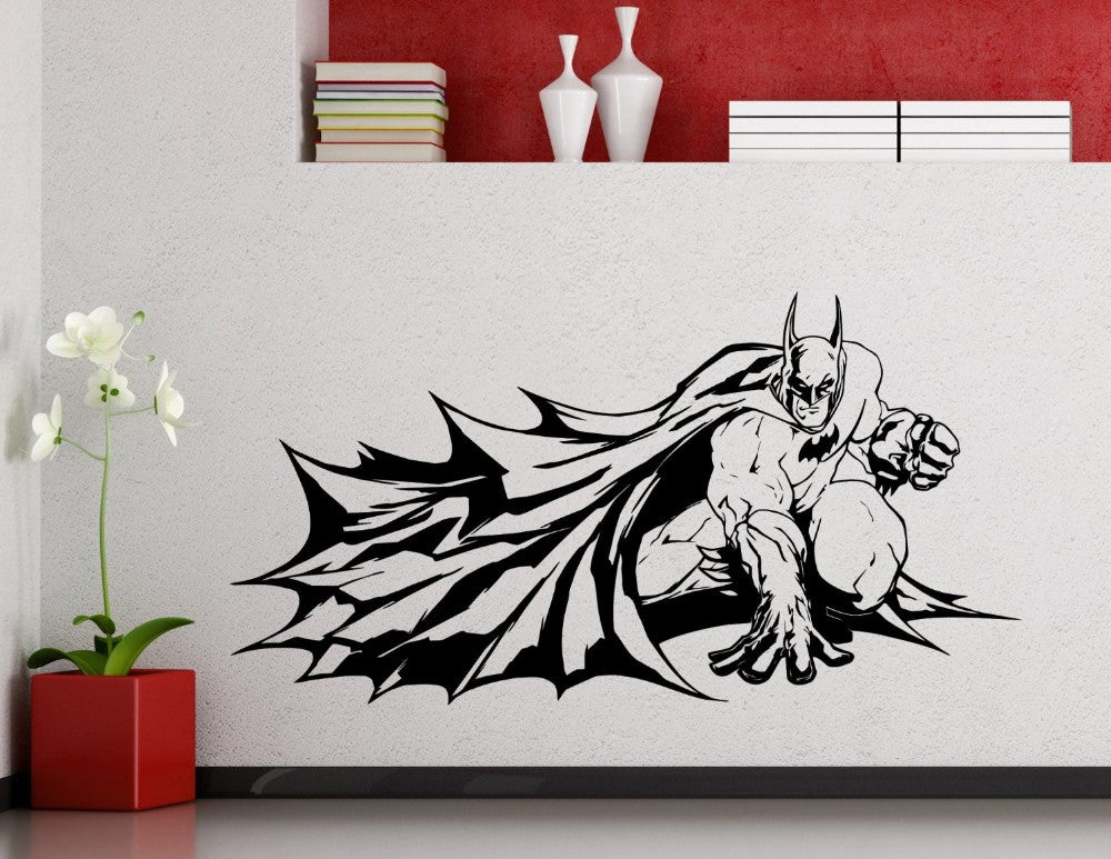 High Quality Batman Crouched Wall Decal