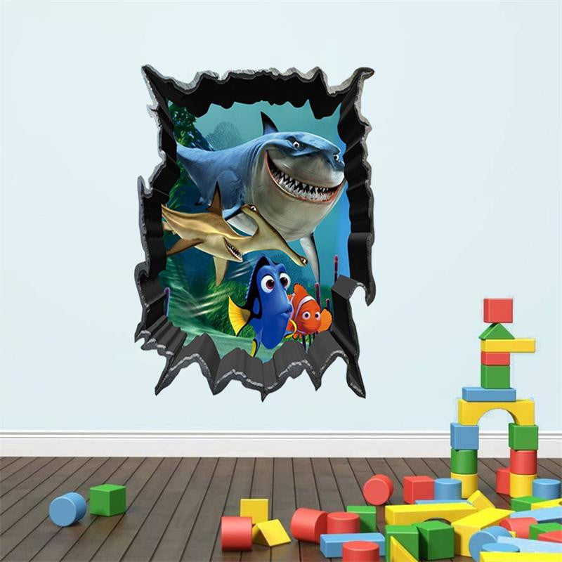 3D Finding Nemo / Finding Dory Vinyl Wall Decal
