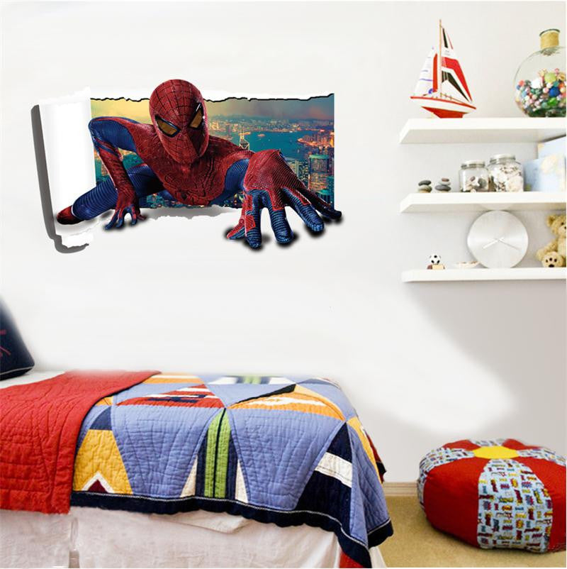 Nice 3D Spiderman Vinyl Wall Decal