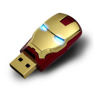Ironman Head 16gb USB 2.0 Flash Drive | The Gift and Gadget Guys NZ | GGGNZ