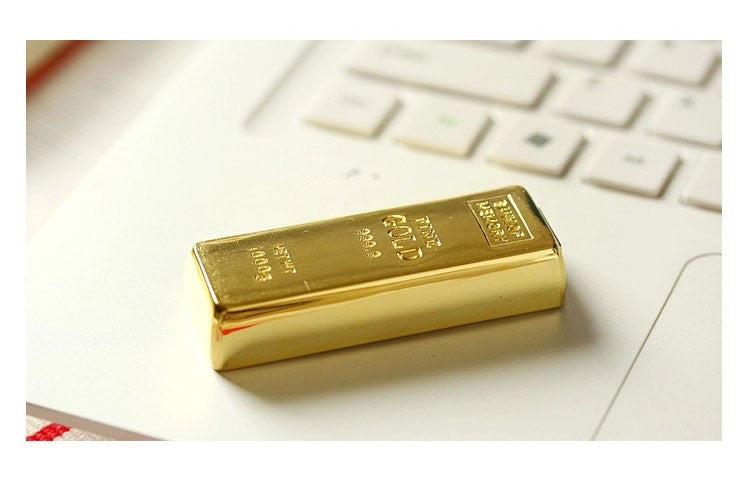 Gold Bar 16gb USB 2.0 Flash Drive | The Gift and Gadget Guys NZ | GGGNZ