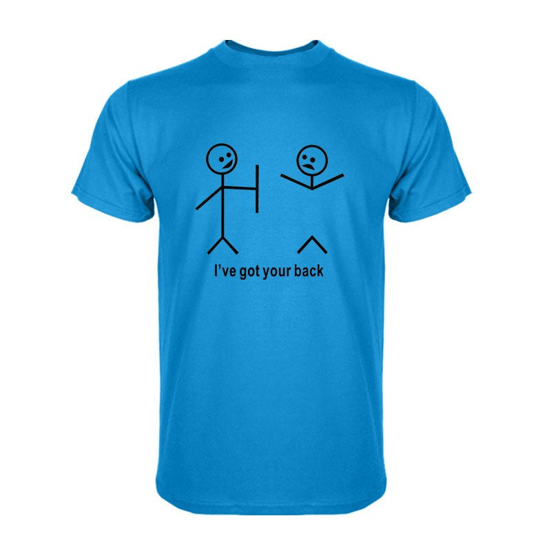 I Got Your Back Stick Figure Humourous T Shirt | The Gift and Gadget Guys NZ | GGGNZ