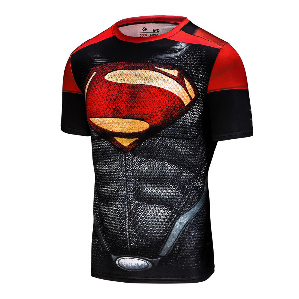 Superman Classic Mens Compression Short Sleeve Shirt | The Gift and Gadget Guys NZ | GGGNZ