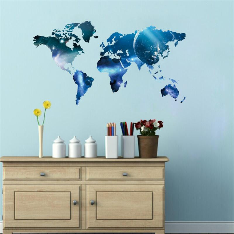 Cosmic world map wall decal gift and gadget guys the gift and cosmic world map wall decal gumiabroncs Choice Image