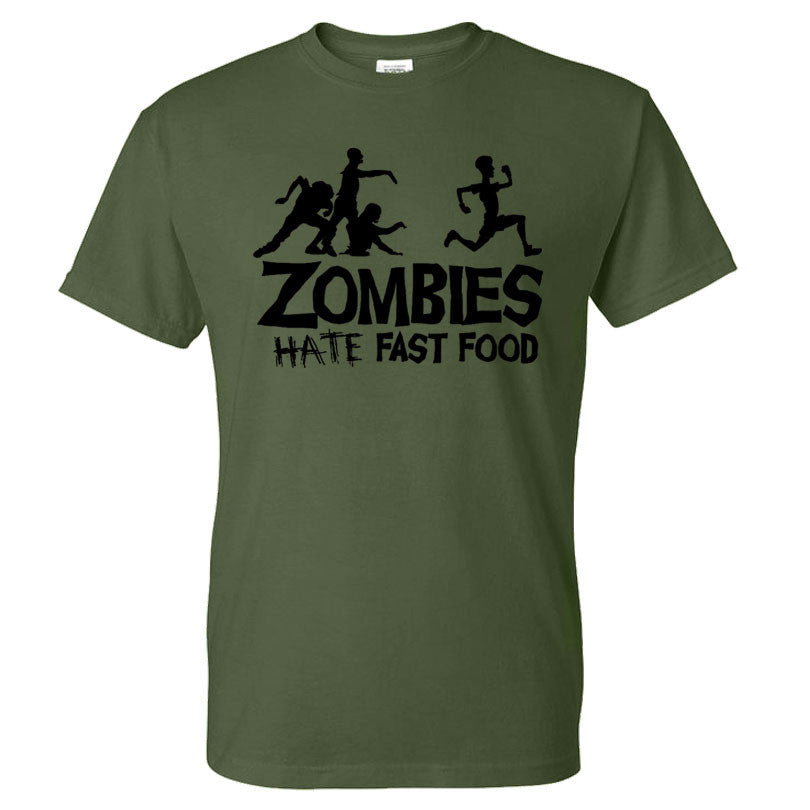 Zombies Hate Fast Food Humourous T Shirt | The Gift and Gadget Guys NZ | GGGNZ