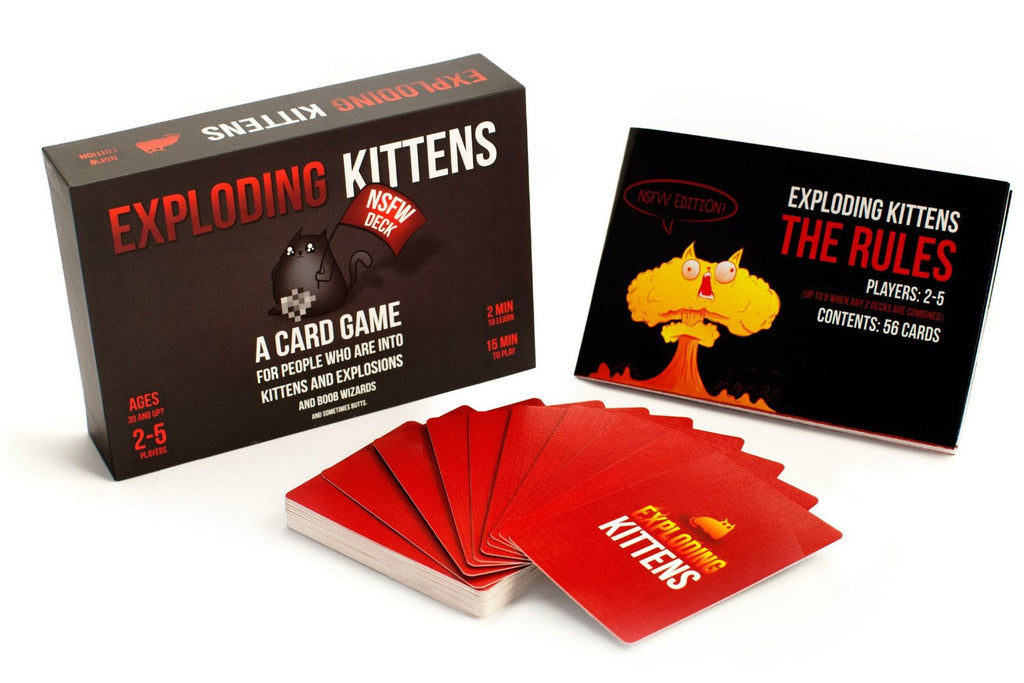 Exploding Kittens Card Game - NSFW Edition | The Gift and Gadget Guys NZ | GGGNZ