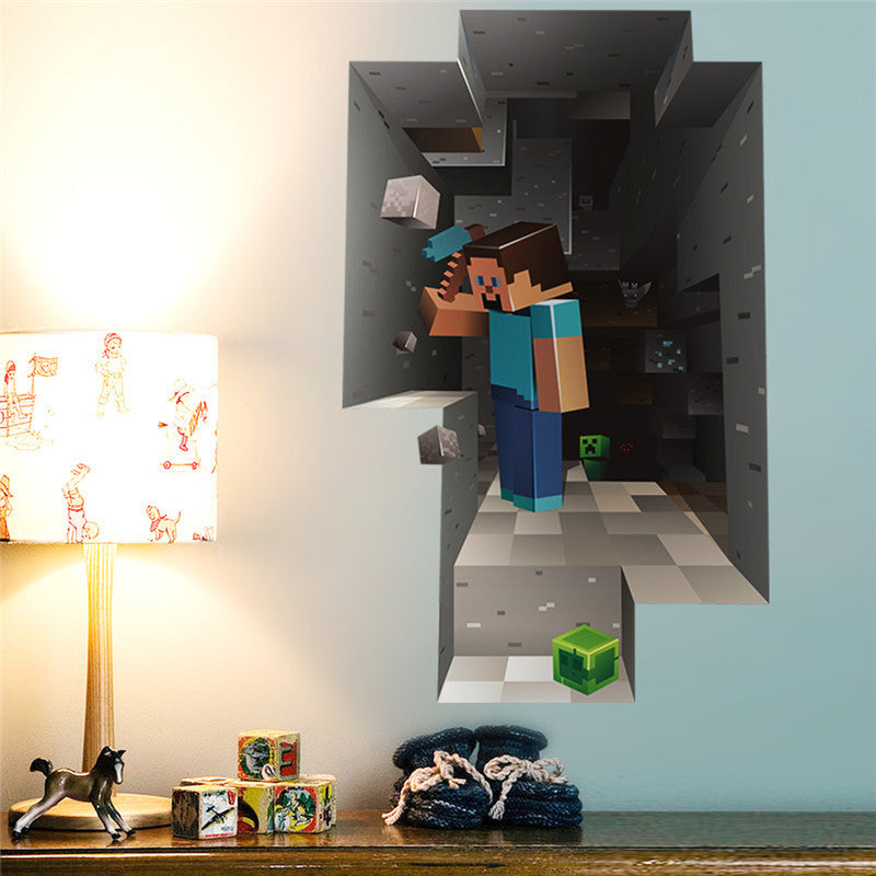 3D Minecraft Vinyl Wall Decal | The Gift and Gadget Guys NZ | GGGNZ