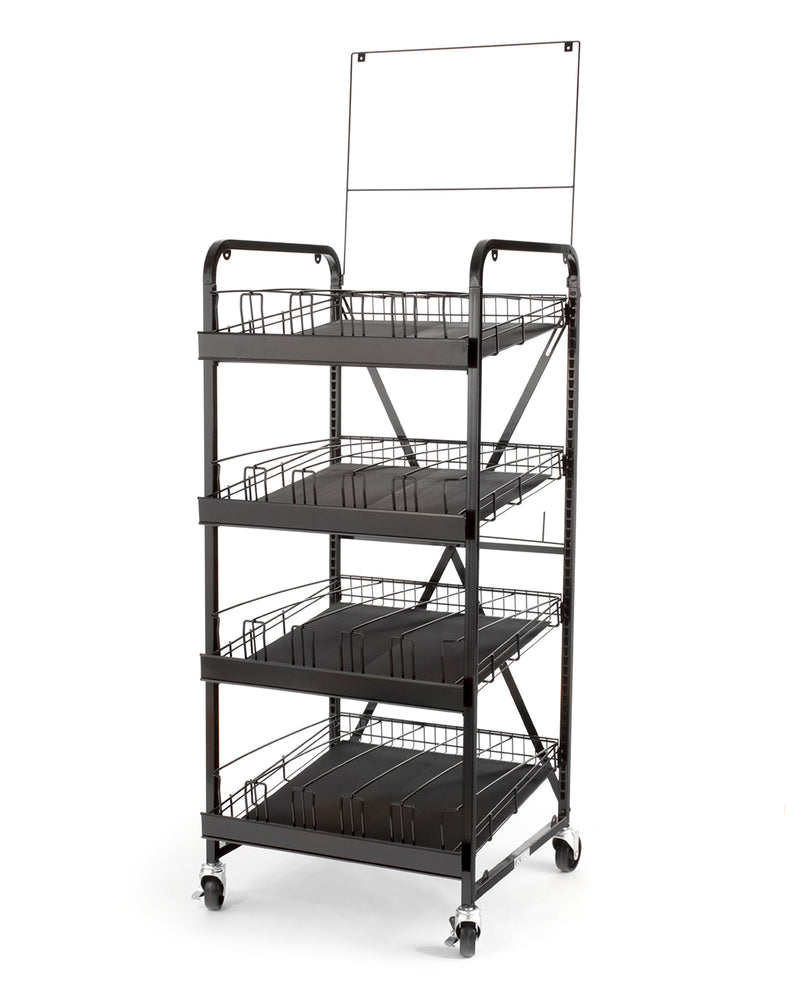 Metal Superglide 4-Shelf Unit Standard Height