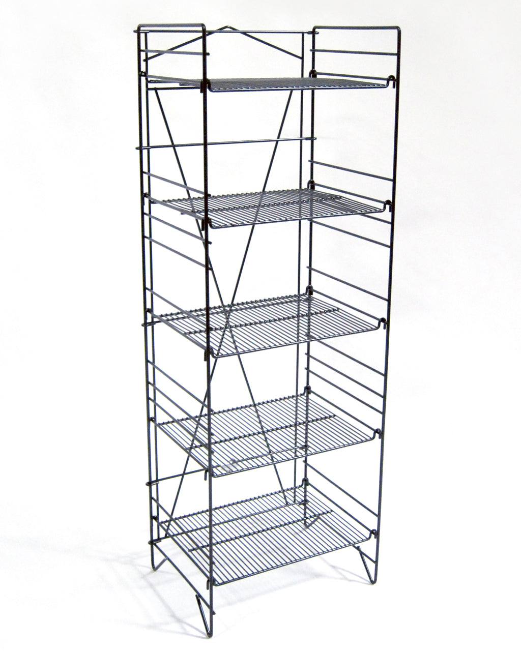 Black Foldout - 5-Shelf Wire Display Rack 2 - Count – Presence From ...